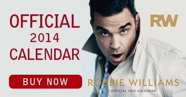 Robie Williams Calendar 2014