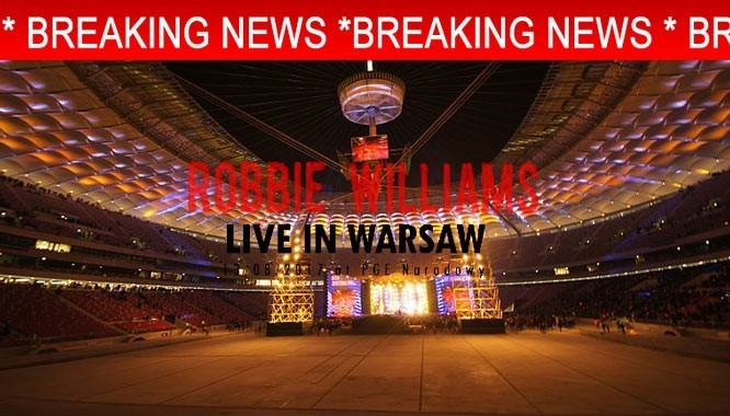 Robbie Williams Warsaw concert cancelled