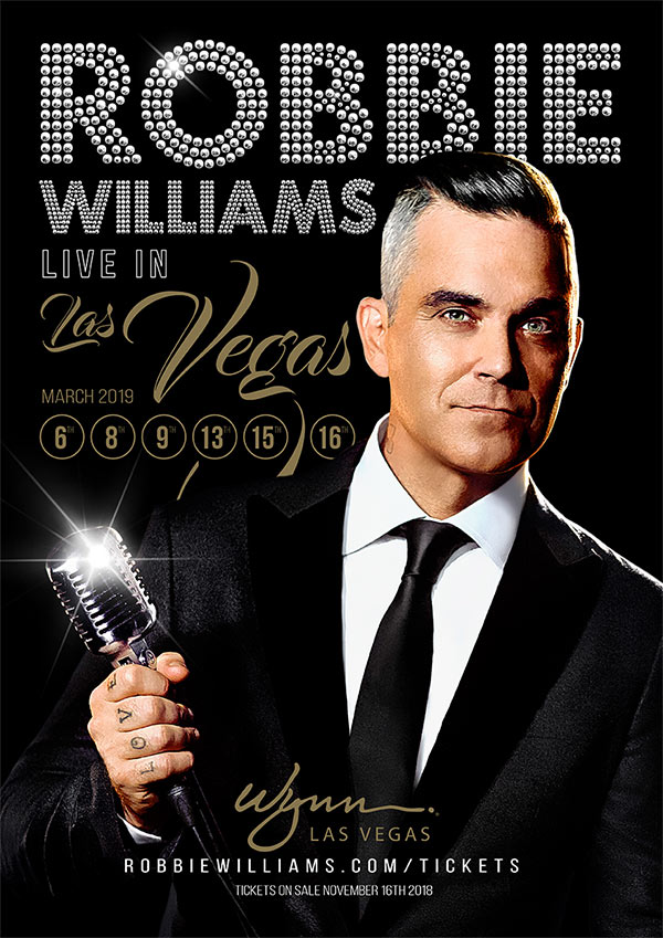Robbie Williams Las Vegas 2019 Poster